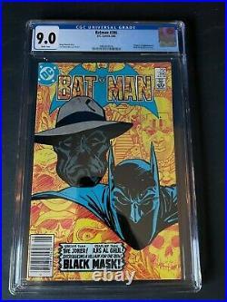 Batman #386 Cgc 9.0 1st Appearance Black Mask White Pages Newsstand DC Comics