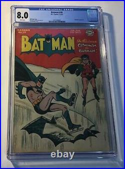 Batman #39. CGC Graded 8.0 Very Fine. Feb/Mar 1947 Golden Age WHITE PAGES