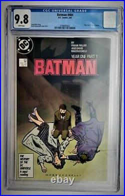 Batman #404, CGC 9.8 1987 White Pages Part 1 to Year One story line Frank Miller