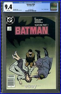 Batman #404 (DC 2/87) CGC 9.4, Pristine White! Frank Miller Year 1