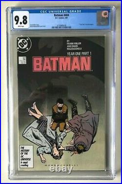 Batman 404 KEY CGC 9.8 White Pages YEAR ONE Part 1 Frank Miller