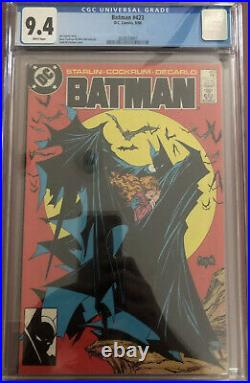 Batman #423 CGC 9.4 White Pages McFarlane Cover 1st Print 1988 DC Comics KEY
