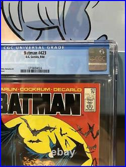 Batman #423 CGC 9.6 White pages Todd Mcfarlane Cover First print DC