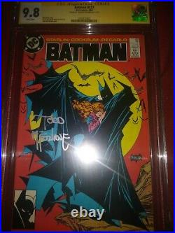 Batman #423 CGC 9.8 White Pages First Print Signed By Todd McFarland