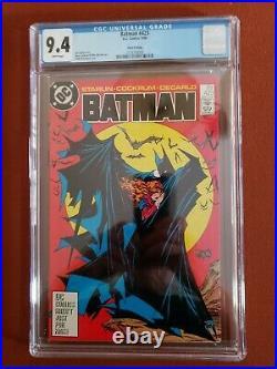 Batman #423 Cgc 9.4 Nm White Pages 3rd Print Mcfarlane Classic DC Comic 1988