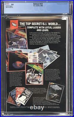 Batman #423 Cgc 9.8 Nm/m White Pages Classic Todd Mcfarlane Cover