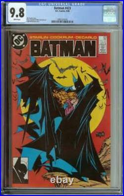Batman #423 Cgc 9.8 White Pages // Todd Mcfarlane Cover Art 1988