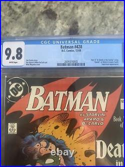 Batman #428 CGC 9.8 NM/M White Pages Deathof Robin (Jason Todd) in the Family