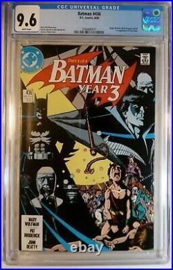 Batman #436 Cgc 9.6 White Pages! 1st Appearance Tim Drake! Titans Unpressed DC