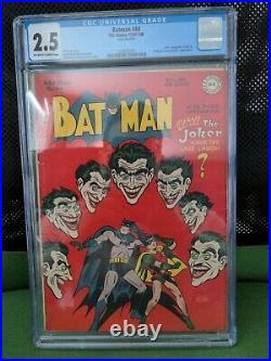 Batman #44 (1948) CGC 2.5 OWithWHITE Classic Joker Cover Golden Age