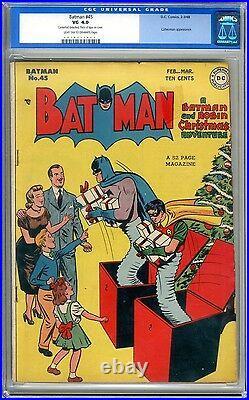 Batman #45 CGC 4.0 VG Light tan to off white pgs 2-3/1948 Catwoman App