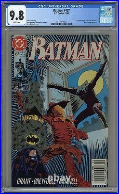 Batman #457 Cgc 9.8 1st Tim Drake Robin! White Pages 1990