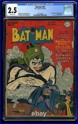 Batman #49 CGC GD+ 2.5 Off White 1st Vicki Vale and Mad Hatter