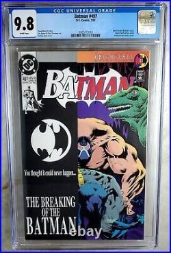 Batman #497 Bane Breaks Back D. C. DC 1993 CGC 9.8 NM/MT White Pages Comic S0067