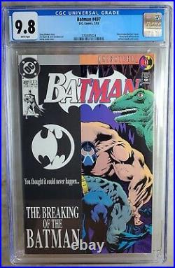 Batman #497 Bane Breaks Back D. C. DC 1993 CGC 9.8 NM/MT White Pages Comic T0106