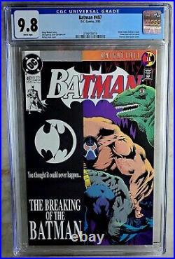Batman #497 Bane Breaks Back D. C. DC 1993 CGC 9.8 NM/MT White Pages Comic U0049