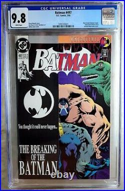Batman #497 Bane Breaks Back D. C. DC 1993 CGC 9.8 NM/MT White Pages Comic U0138