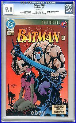 Batman #498 CGC 9.8 NMMT White pgs 8/93 Bane & Catwoman App. Knightfall