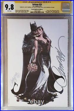 Batman 50 J Scott Campbell Variant G CGC 9.8 Signature Catwoman White Wedding SS