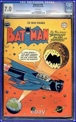 Batman #59 (1959) Cgc 7.0 White Pages High Grade 1st Appearance Of Deadshot