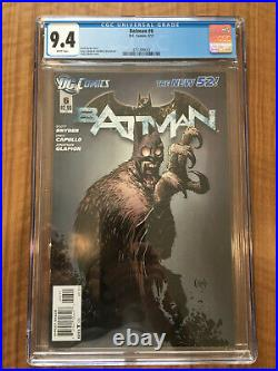 Batman #6 CGC 9.4 (DC 2012) New 52! White pages! 1st Court of Owls