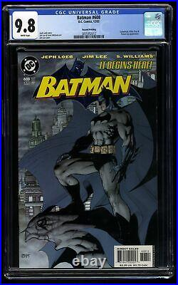 Batman #608 CGC NM/M 9.8 White Pages Jim Lee Cover Variant Hush Begins