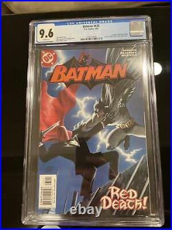 Batman #635 cgc 9.6 White Pages 1st Appearance Of Jason Todd As Red Hood