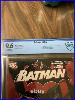 Batman # 655 Cbcs 9.6 White Pages Not Cgc 1st Cameo Appearance Of Damian Wayne