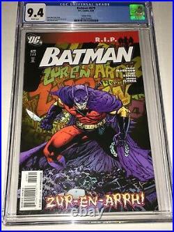 Batman #679 Tony Daniel Variant CGC 9.4 NM White Pages DC 2008