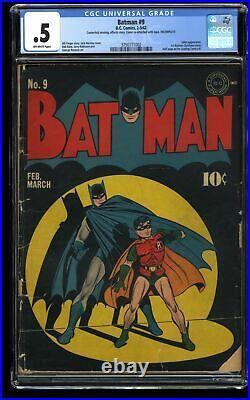 Batman #9 CGC P 0.5 Off White 1st Batman Christmas Story