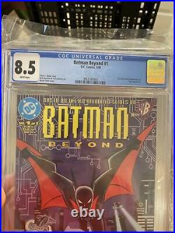 Batman Beyond #1 CGC 8.5 1st Terry McGinnis Direct Sales White Pages DC Comics
