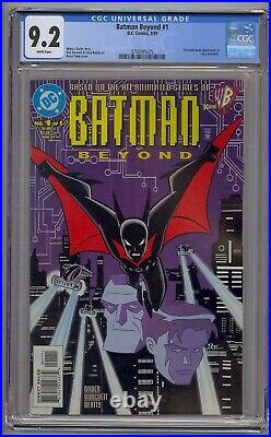 Batman Beyond #1 Cgc 9.2 1st Comic App Terry Mcginnis White Pages