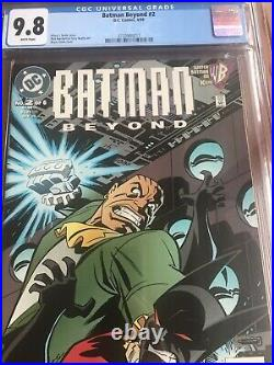Batman Beyond 2 CGC 9.8 White (1999) Batman Joker Unpressed Newsstand