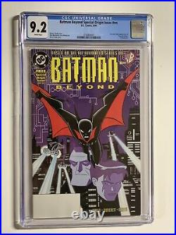 Batman Beyond Special Origin Issue Nn Promo Cgc 9.2 White Pages Dc Comics
