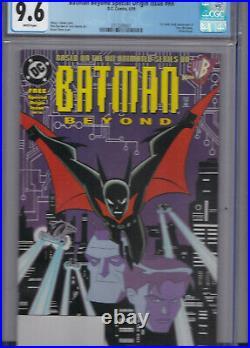 Batman Beyond #nn Special Origin Issue 1 Cgc 9.6 White Pages 1st Terry Mcginnis