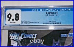 Batman New 52 #1 CGC 9.8 White pages