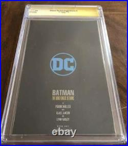 Batman The Dark Knight Returns #1 Cgc 9.6 White Pages Foil Edition