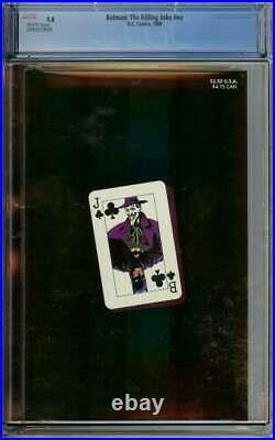 Batman The Killing Joke #nn Cgc 9.8 White Pages // Joker Cripples Batgirl 1988