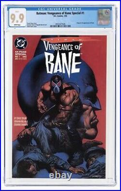 Batman Vengeance Of Bane #1 CGC MINT 9.9 White (Best in the World!) 1st Bane