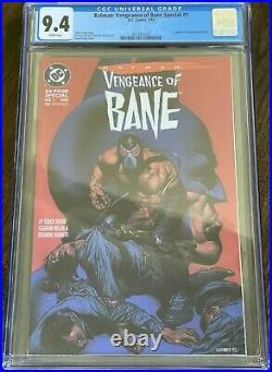 Batman Vengeance of Bane #1 (1993) Origin/1st App Bane 1st Print CGC 9.4 White
