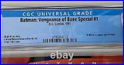 Batman Vengeance of Bane 1# (CGC 9.6 White Pages) 1st Print
