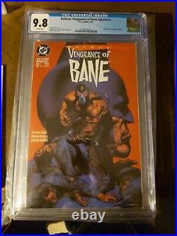 Batman Vengeance of Bane Special #1 (Jan 1993, DC) 1st print cgc 9.8 white page