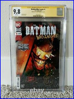Batman Who Laughs #1 CGC 9.8 WHITE Pages Signed by Scott Snyder