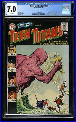 Brave and the Bold #60 CGC FN/VF 7.0 White Pages 1st Wonder Girl