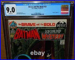 Brave and the Bold #93 CGC 9.0 (VF/NM) White pages DC Comics Batman Neal Adams