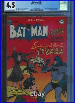 CGC 4.5 BATMAN #62 CATWOMAN ORIGIN & NAME REVEALED CLASSIC COVER OWithWHITE PAGES