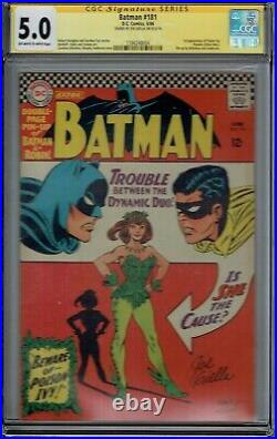 CGC SS 5.0 BATMAN #181 1ST APPEARANCE POISON IVY WITH PIN-UP 1966 OWithWHITE PGS