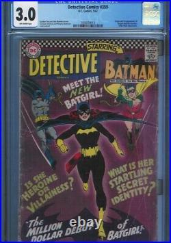 Cgc 3.0 Detective Comics #359 Off-white Pages 1st Appearance Batgirl Batman