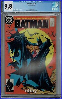 Cgc 9.8 Batman #423 1st Print Ultimate Classic Todd Mcfarlane Cover White Pages