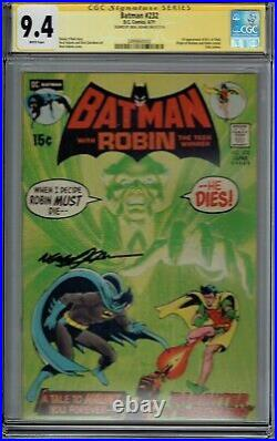 Cgc Ss 9.4 Batman #232 White Pages Ra's Al Ghul 1st Appearance Signed Neal Adams